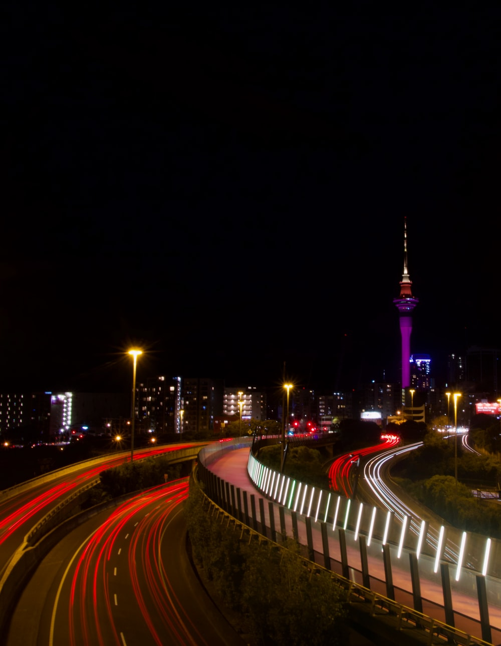 Sky Tower Auckland New Zealand Pictures Download Free Images On Unsplash Sunset sky tower lights city night