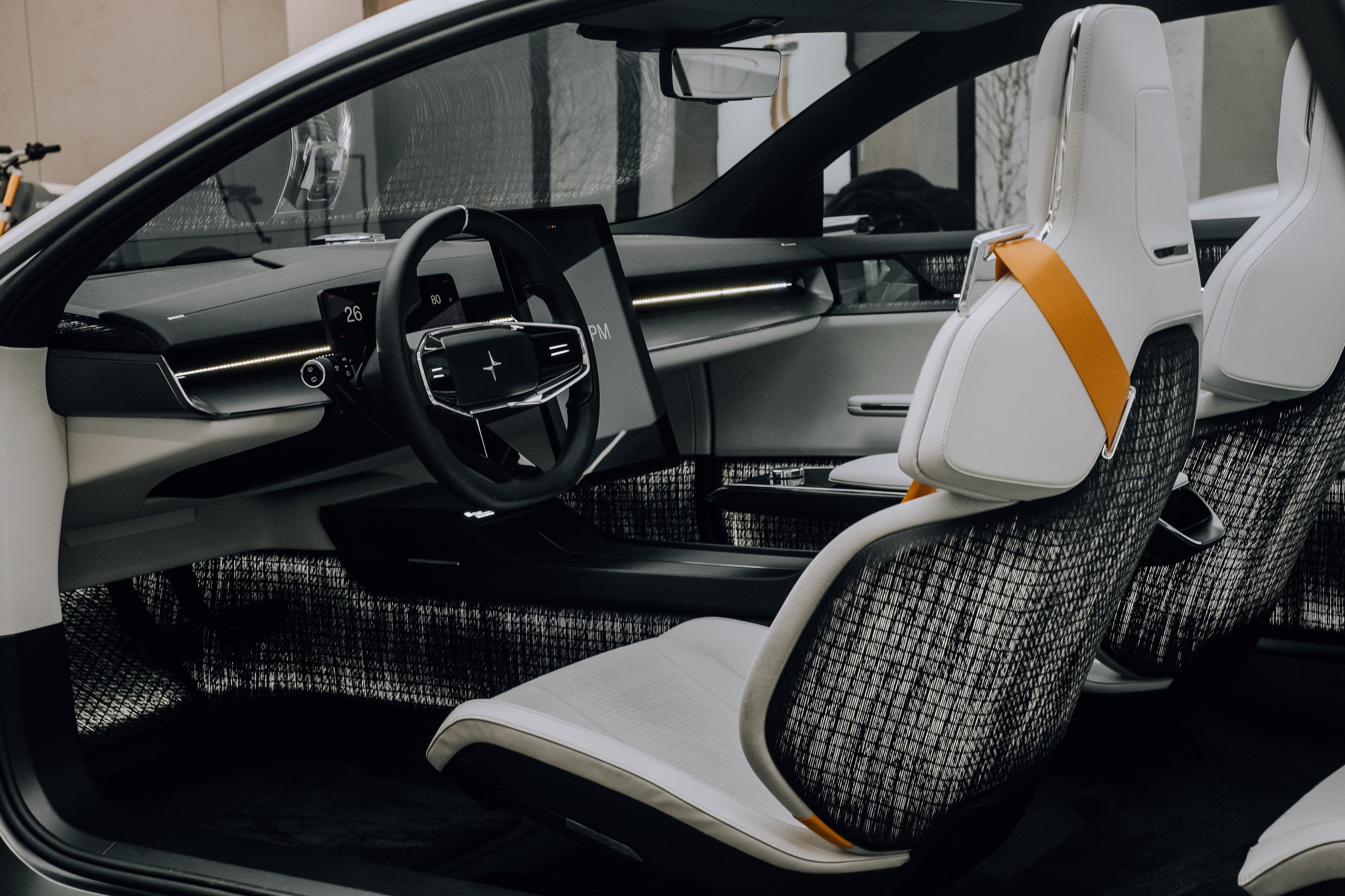 The interior of the Polestar Precept - tight lines, futuristic design and so much space! Instagram: @Kenny.leys