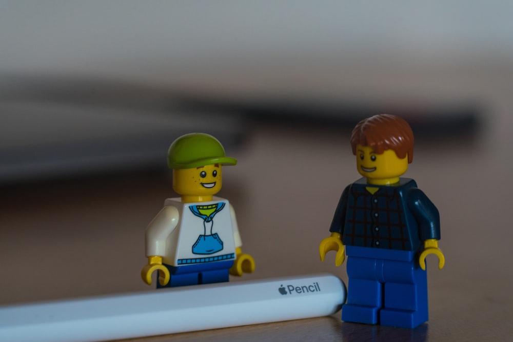 lego mini figure beside lego mini figure