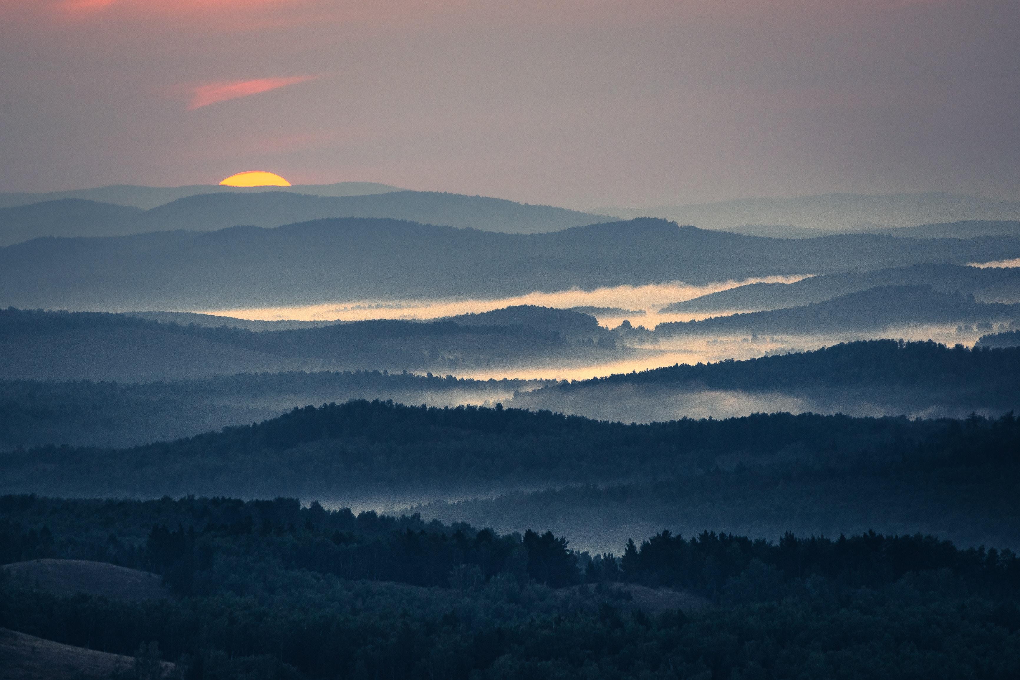 Sunrise at Nurali Ridge South Ural