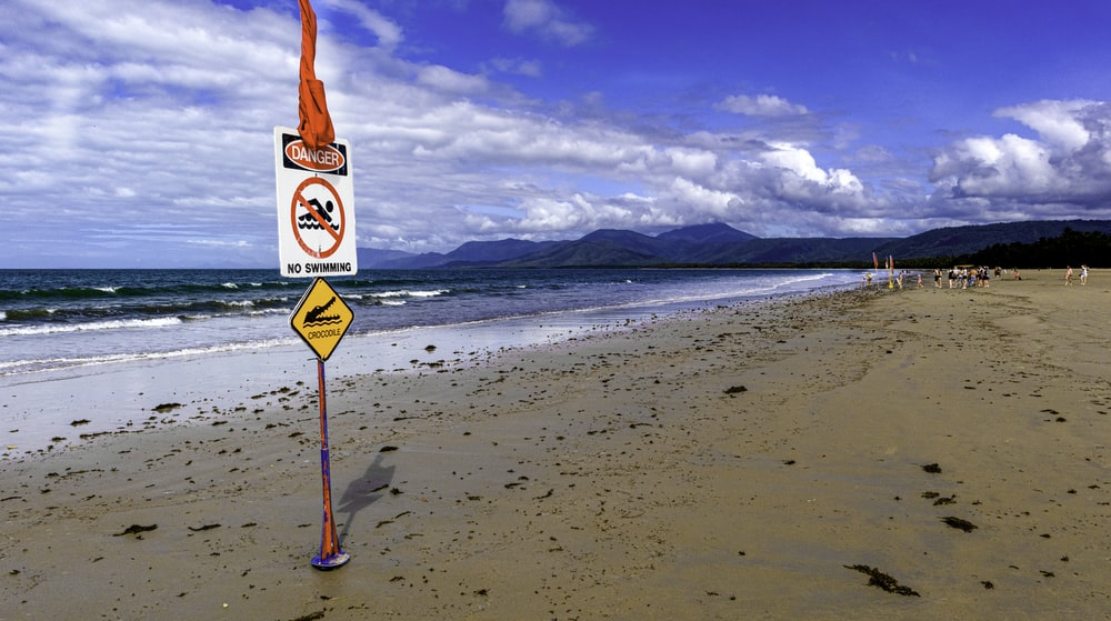 red and white stop sign on beach during daytime