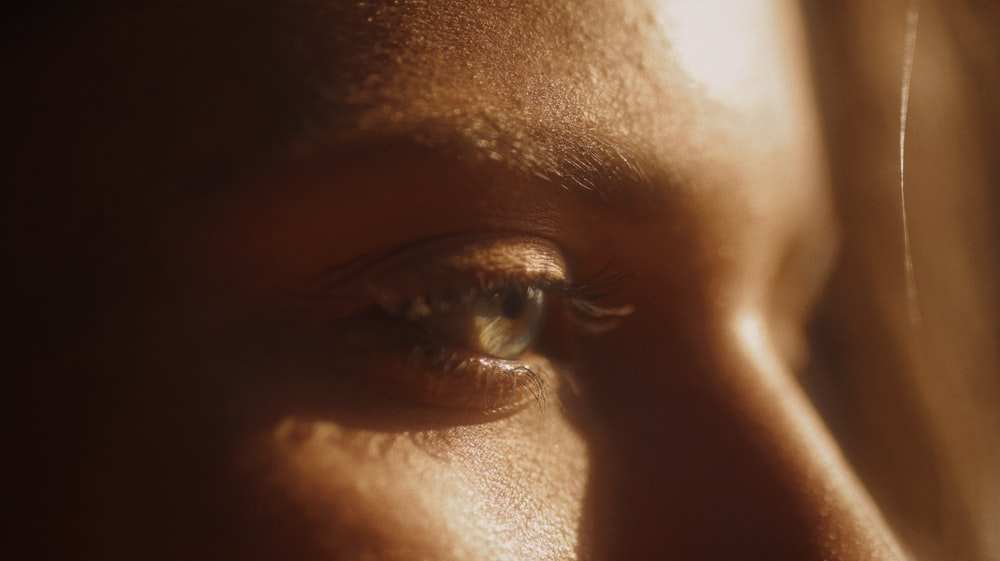 persons face in close up