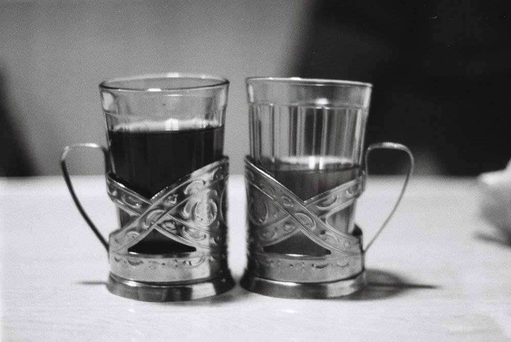 black and white floral ceramic mug