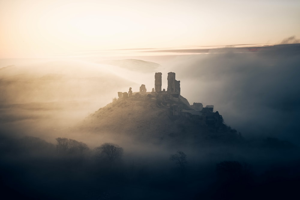castle on top of the mountain
