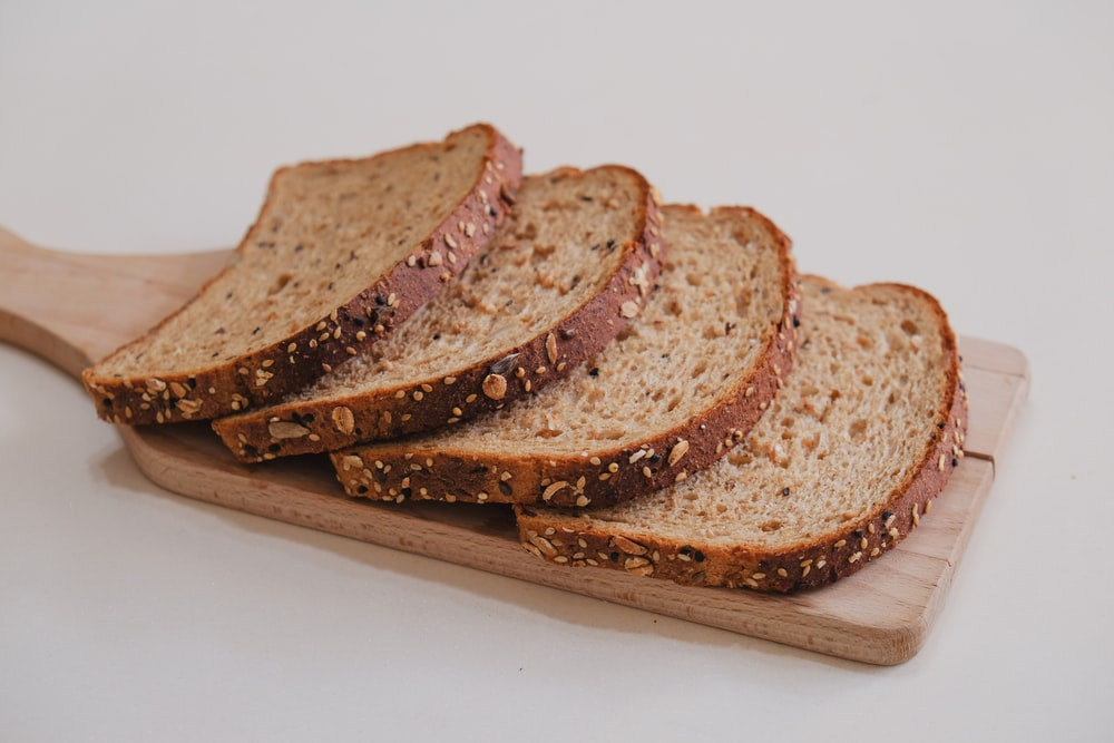 brown bread on white plate