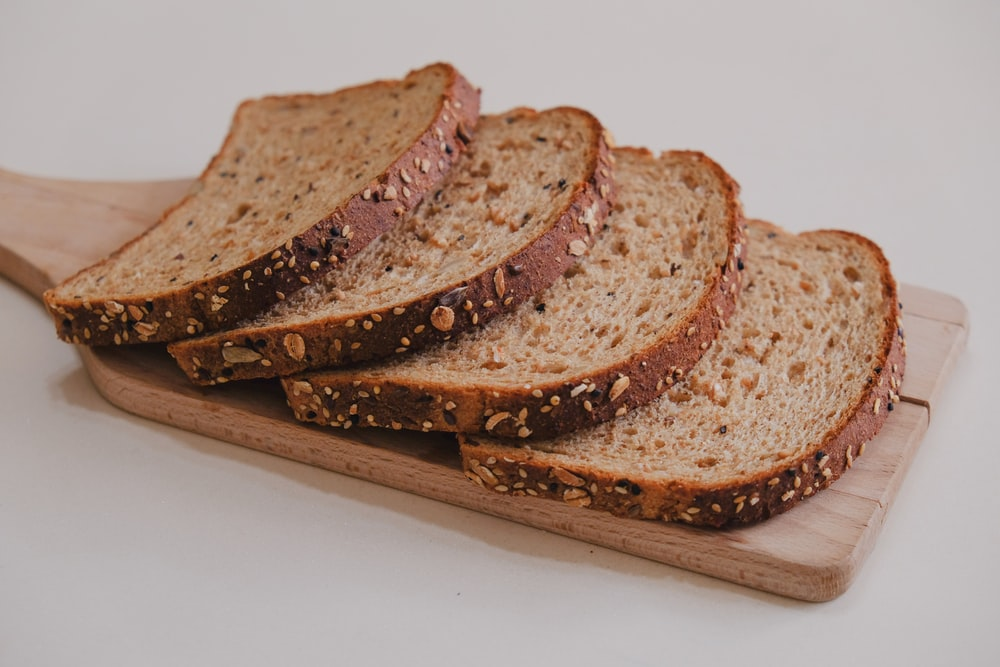 brown bread on brown wooden tray