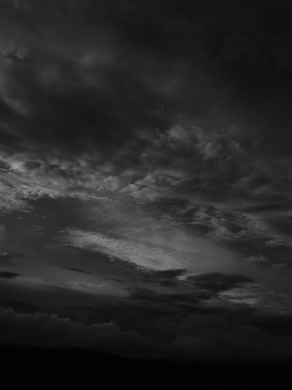 grayscale photo of clouds during daytime