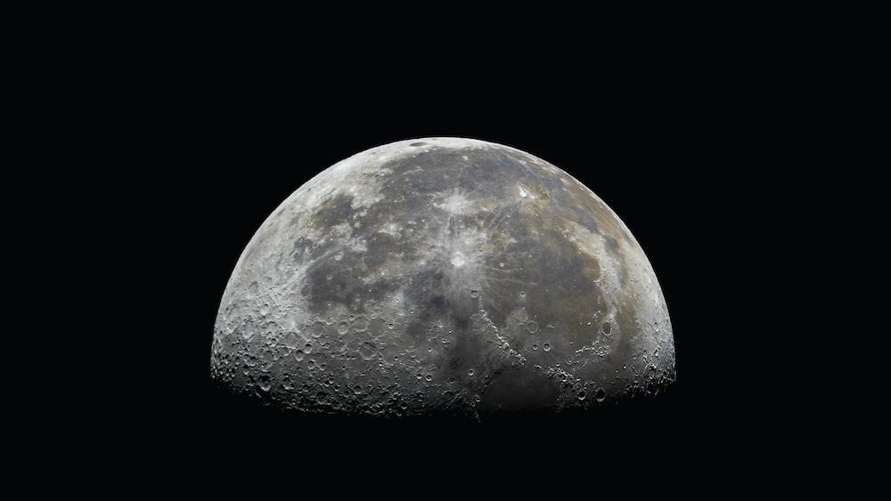 full moon in the dark