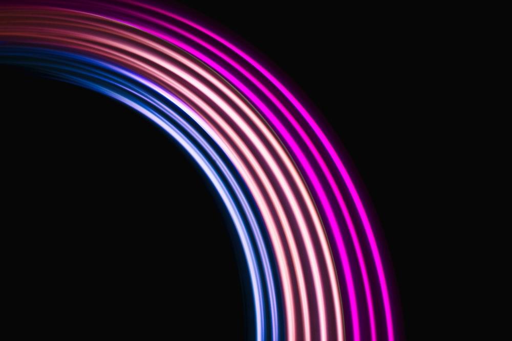 purple and blue round light