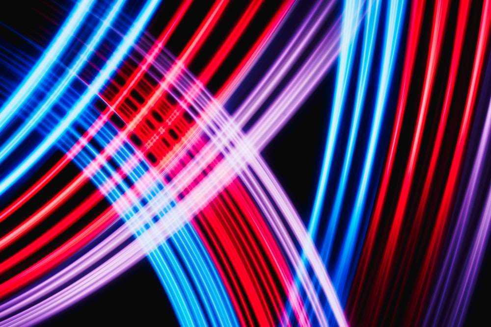 red white and blue light