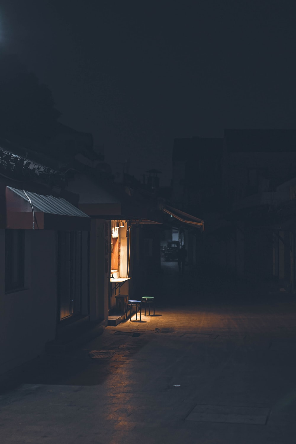 brown wooden house during night time