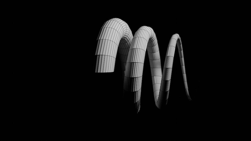 white spiral light on black background
