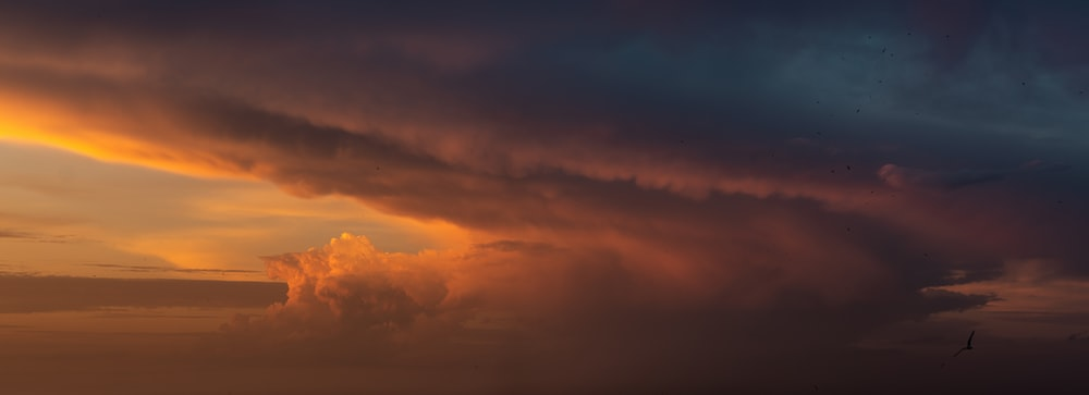 orange and gray clouds during sunset
