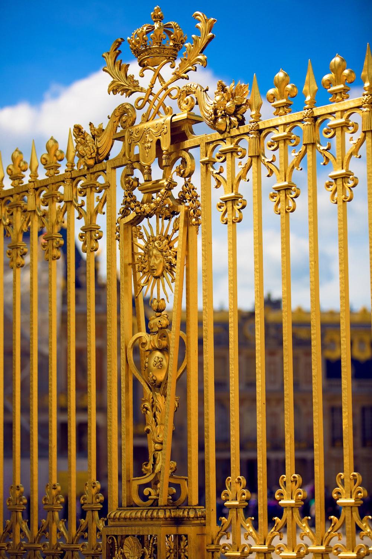 gold steel cross with cross