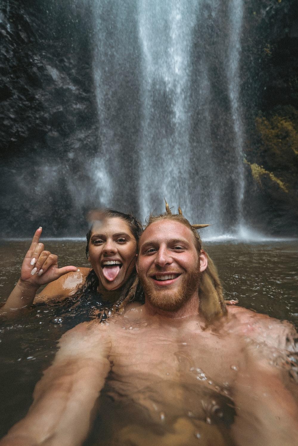 2 women in water falls