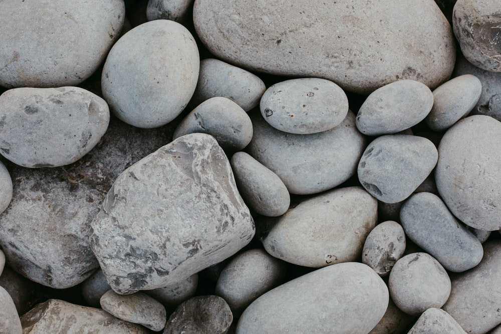 gray stone on gray stone