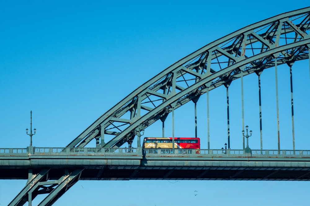 red and white bridge under blue sky during daytime