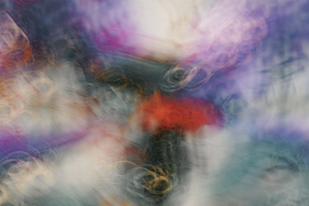 purple and orange abstract painting