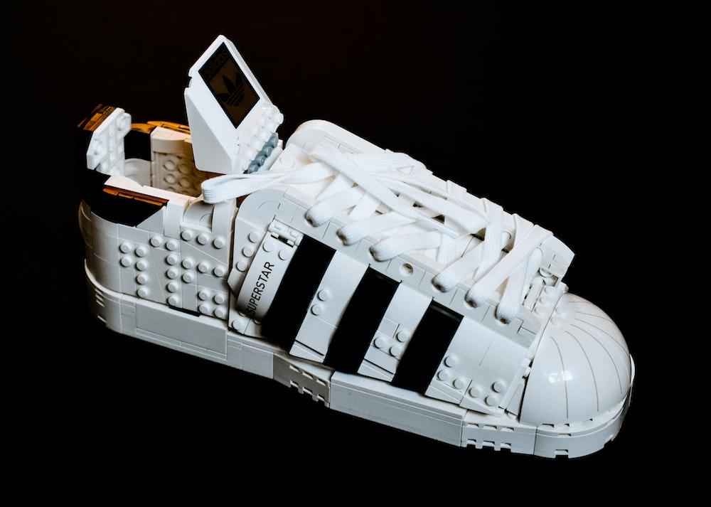 white and black lego toy