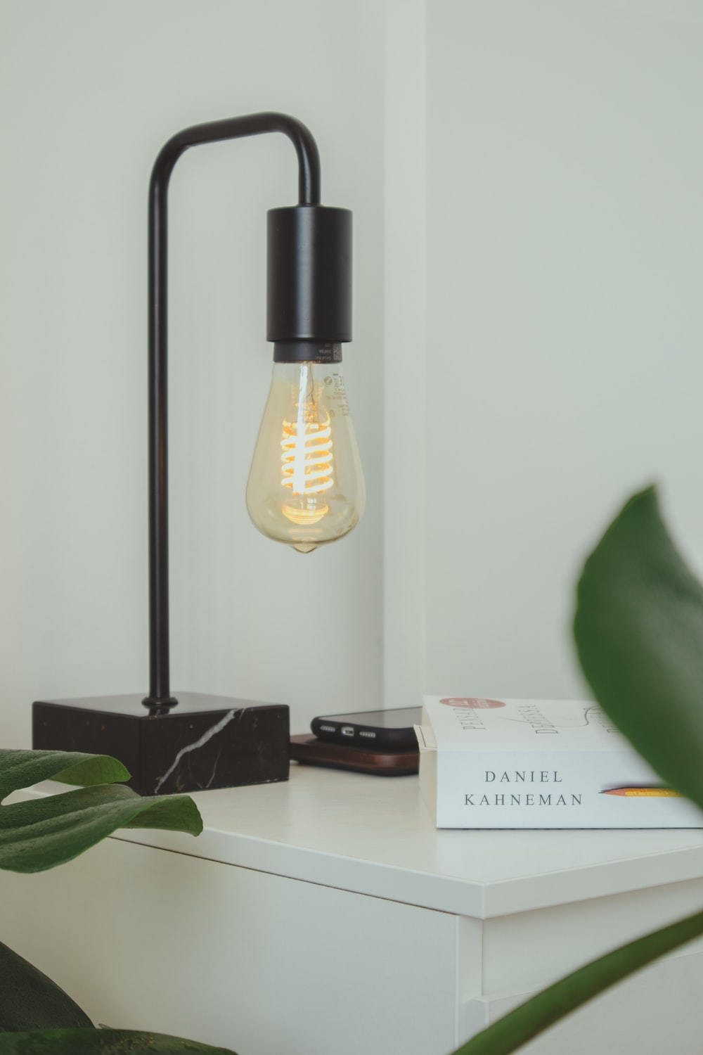 black and yellow desk lamp