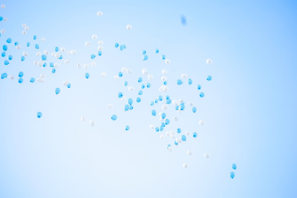 blue and white water droplets