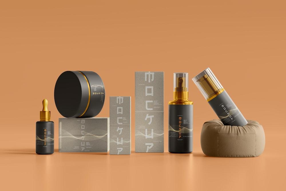 black and gold calvin klein perfume bottle