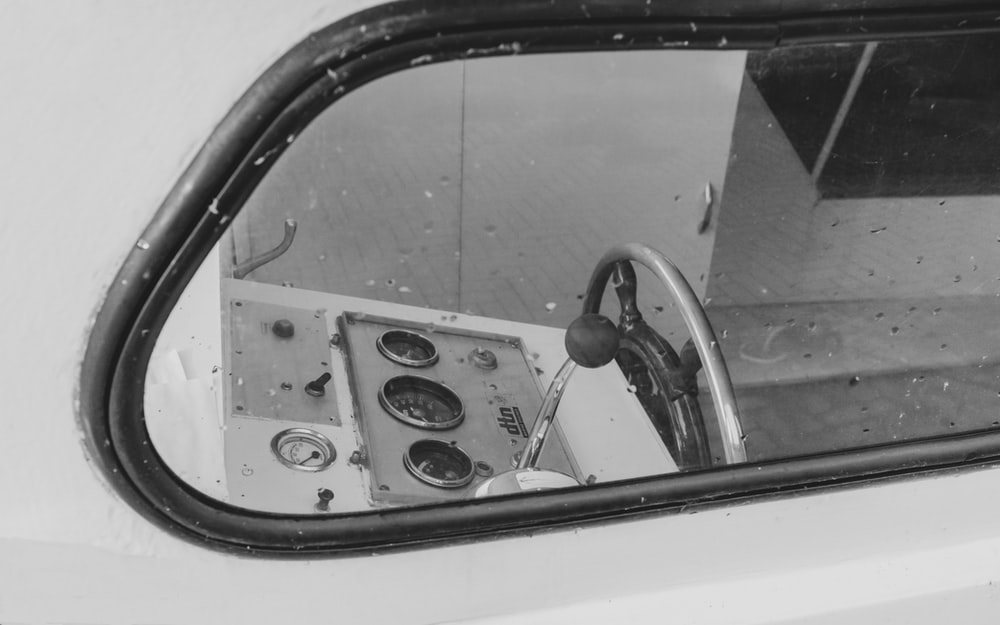 white and black control panel