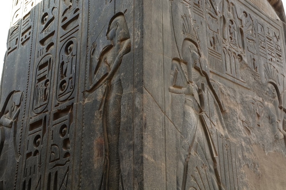 brown wooden carved wall decor