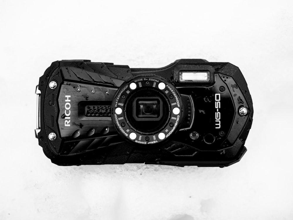 black and silver digital watch