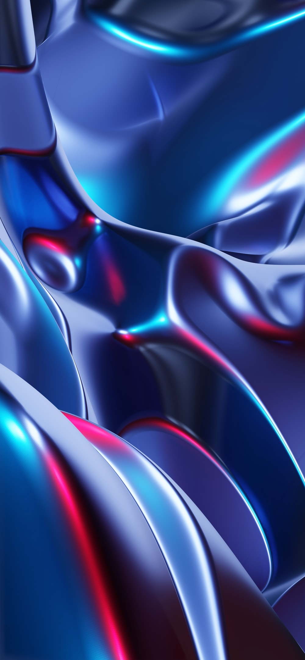 red blue and black abstract painting