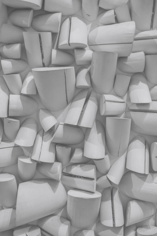 white plastic blocks on white surface