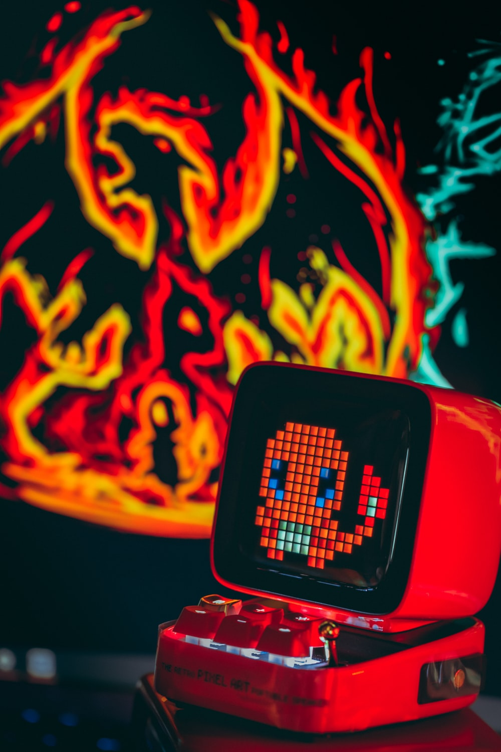 red and black smart watch