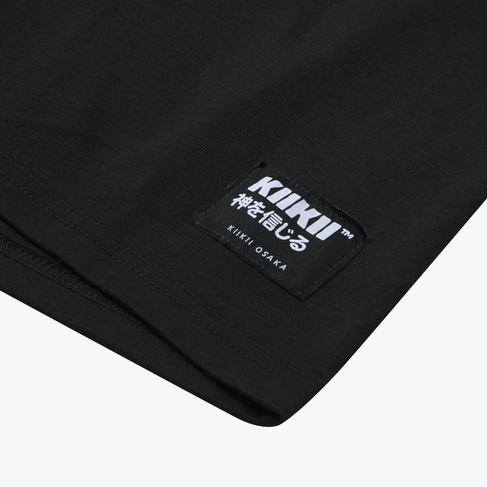black textile with white background
