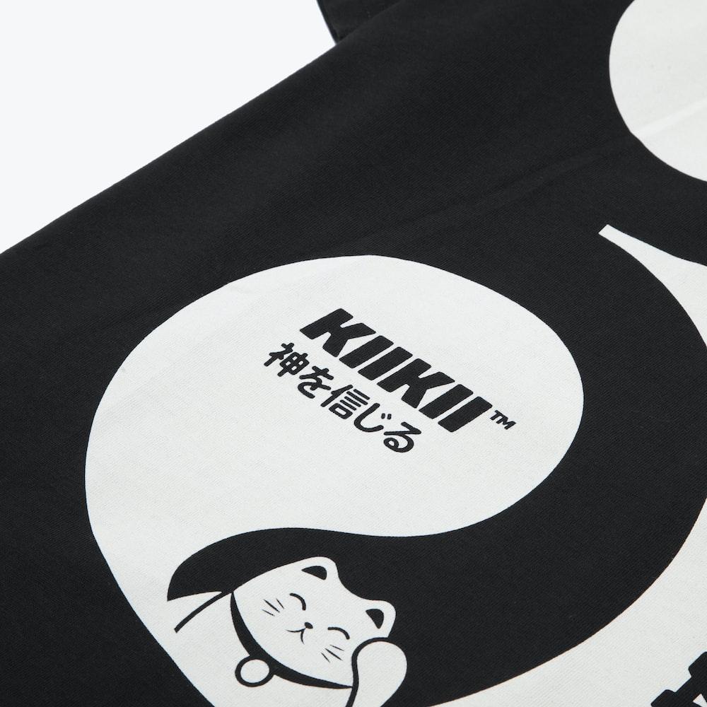black and white panda bear print textile