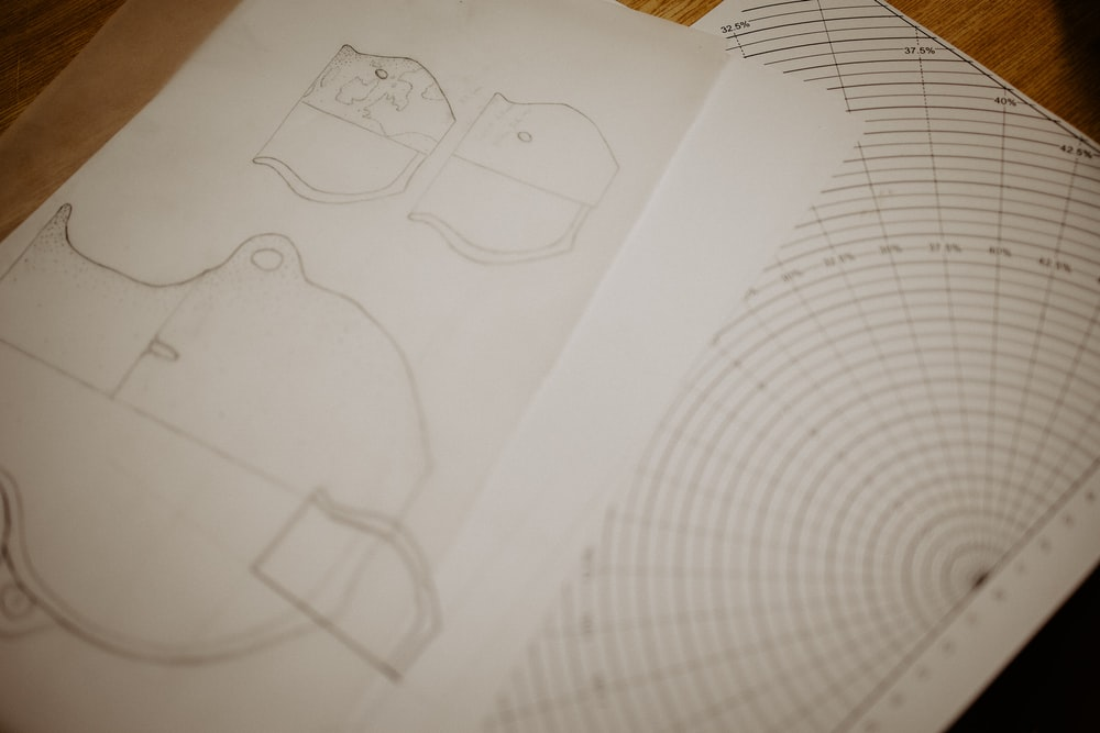 white paper with drawing of a cartoon character