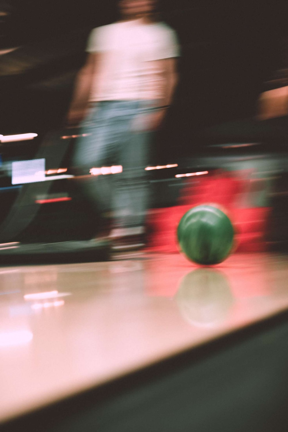 red round ball on the floor