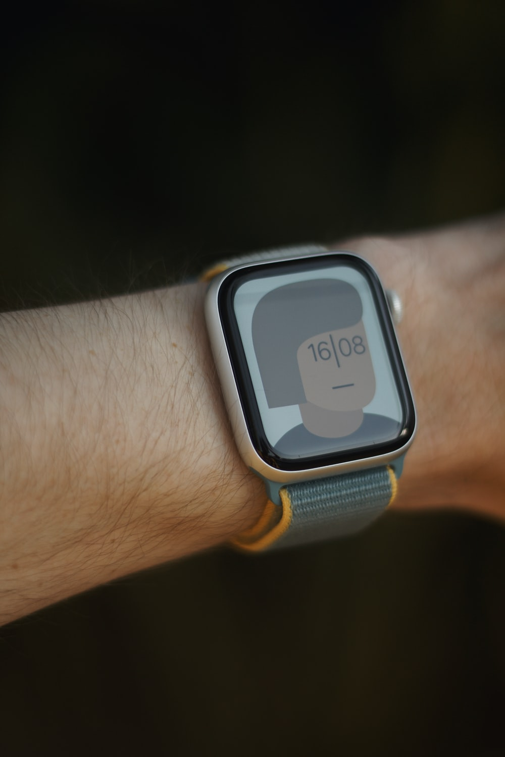 silver and black smart watch