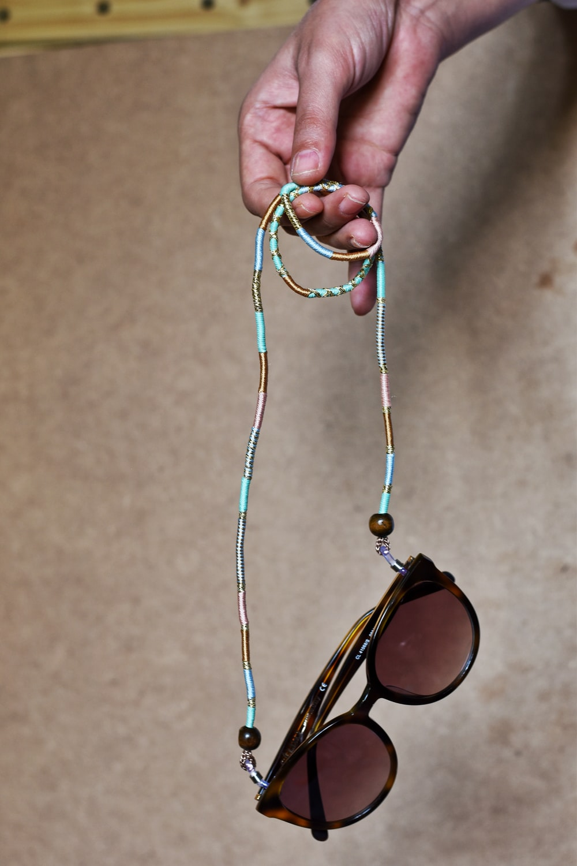 silver framed brown lens sunglasses