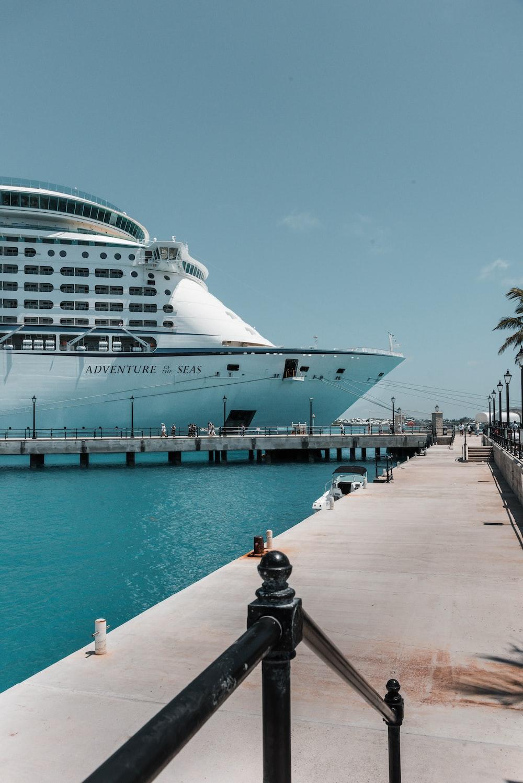 white cruise ship on dock during daytime