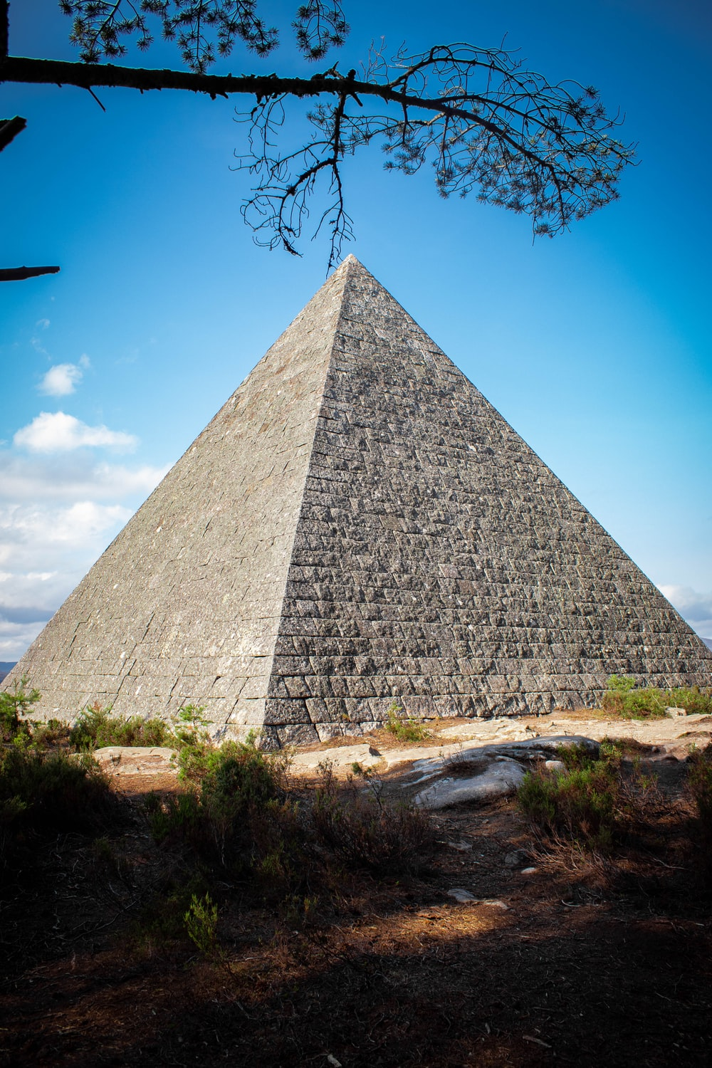gray pyramid under blue sky during daytime