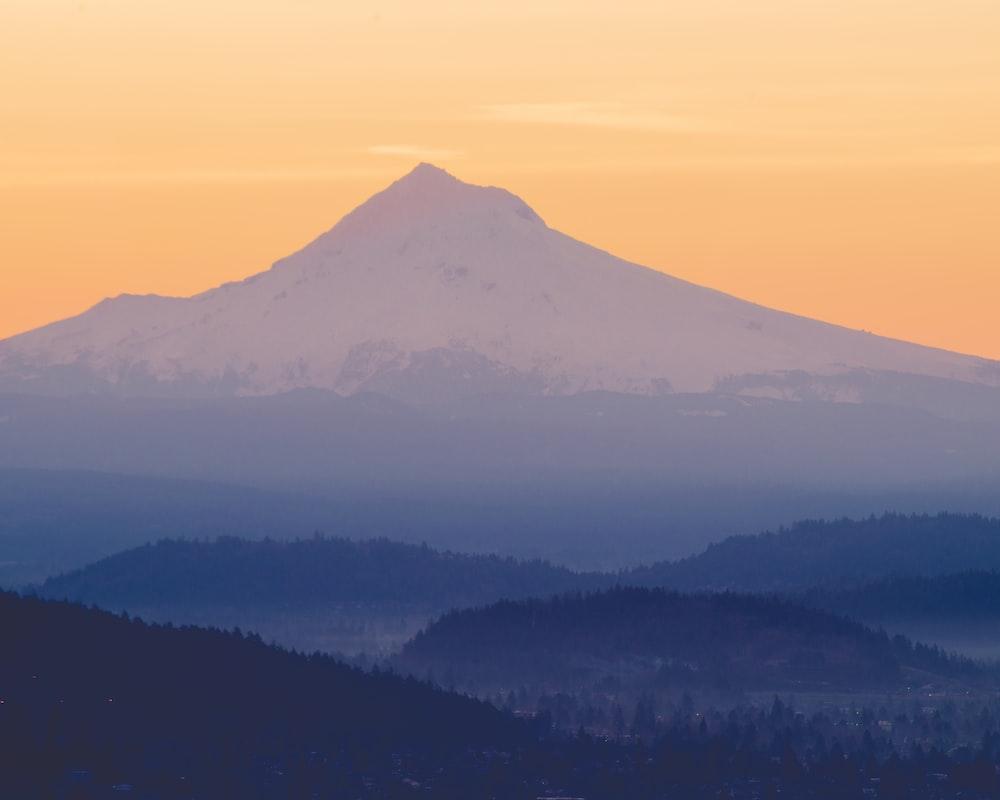 mountain range under blue sky during daytime