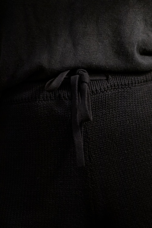 black textile with white strap