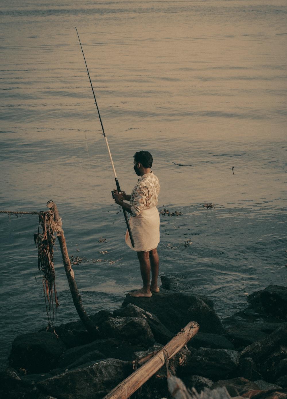 fishing on sea