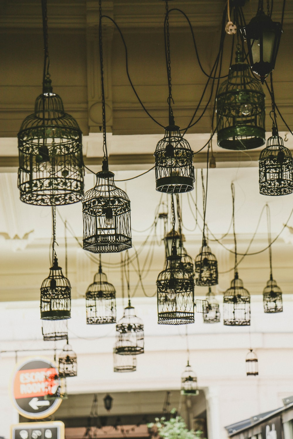 black and white pendant lamps