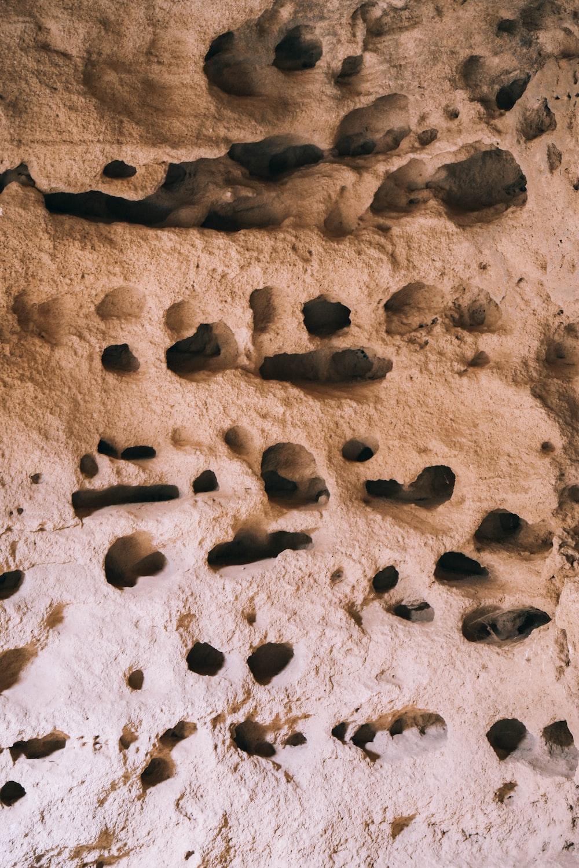 brown rocks on brown sand