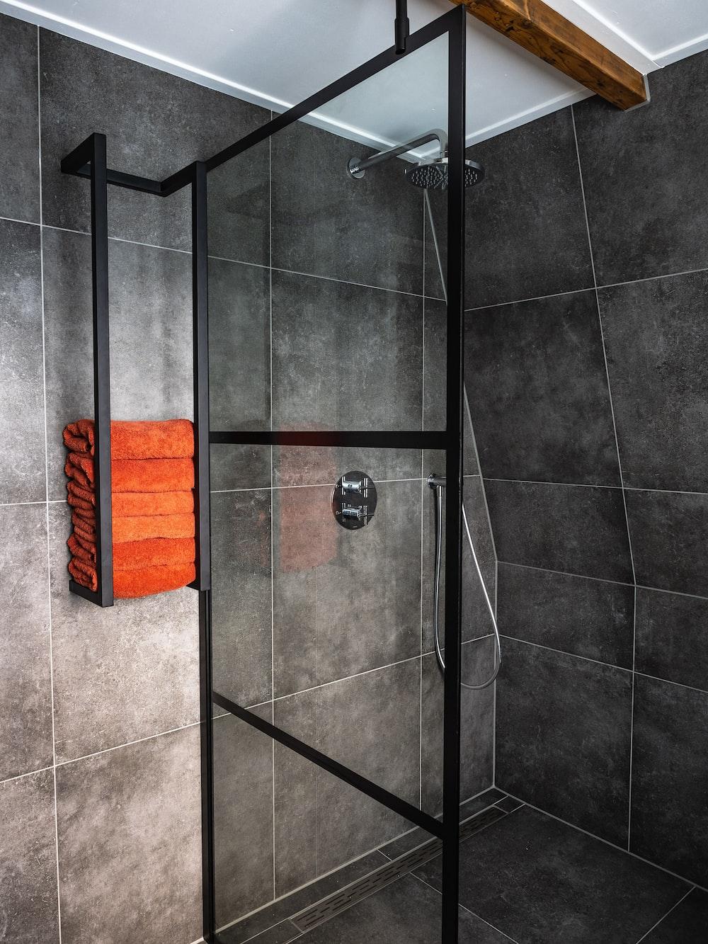 stainless steel framed shower stall
