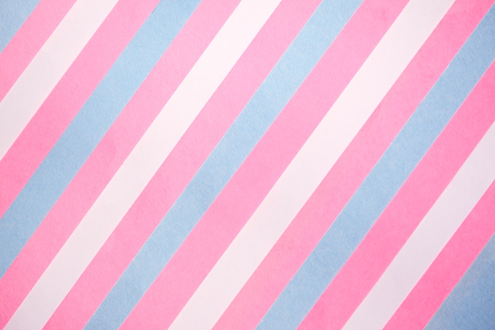 blue and white striped textile