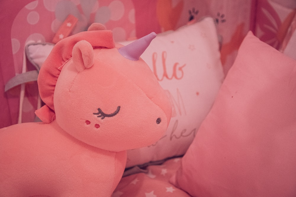 pink and white hello kitty pillow