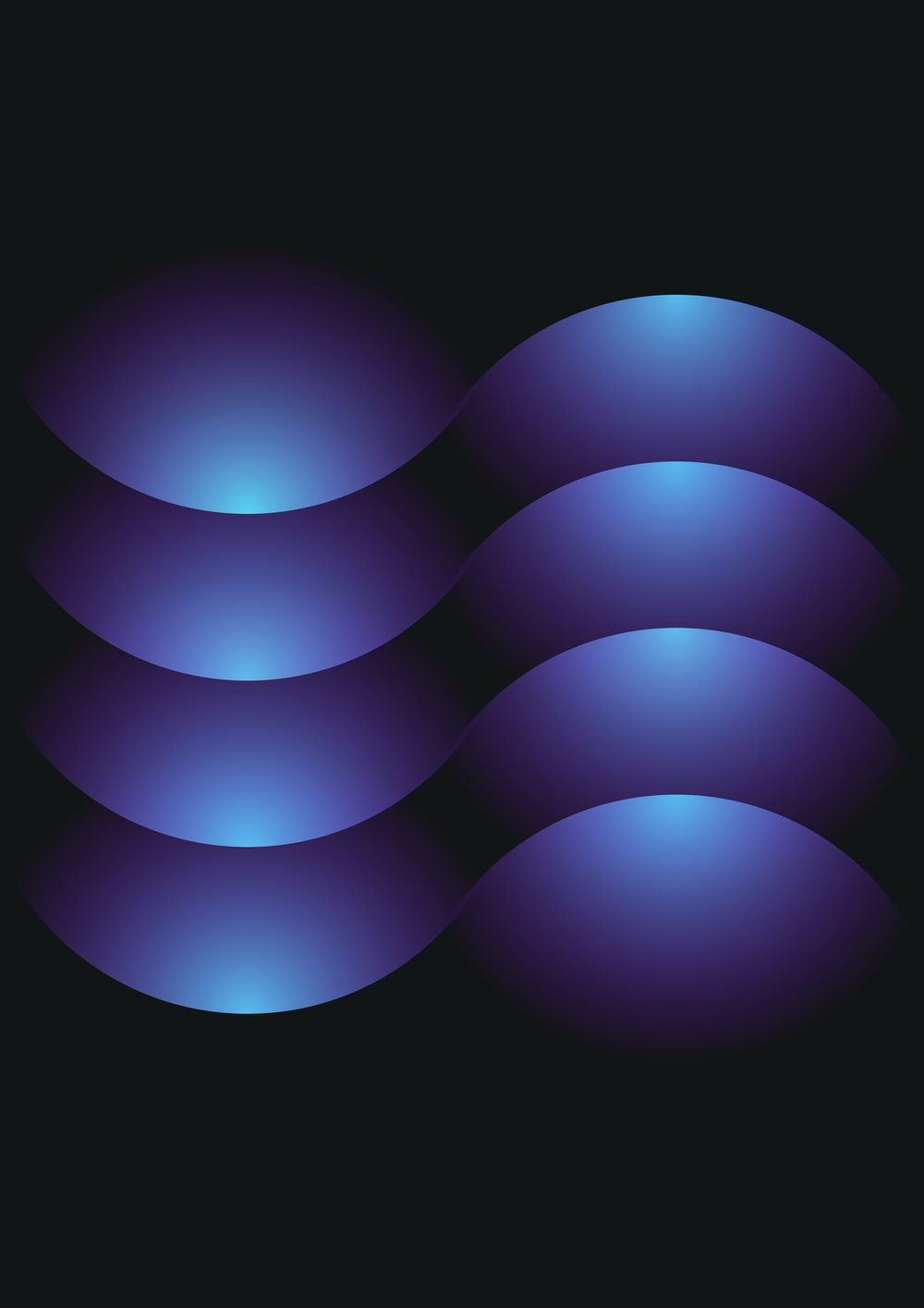 blue light on black background