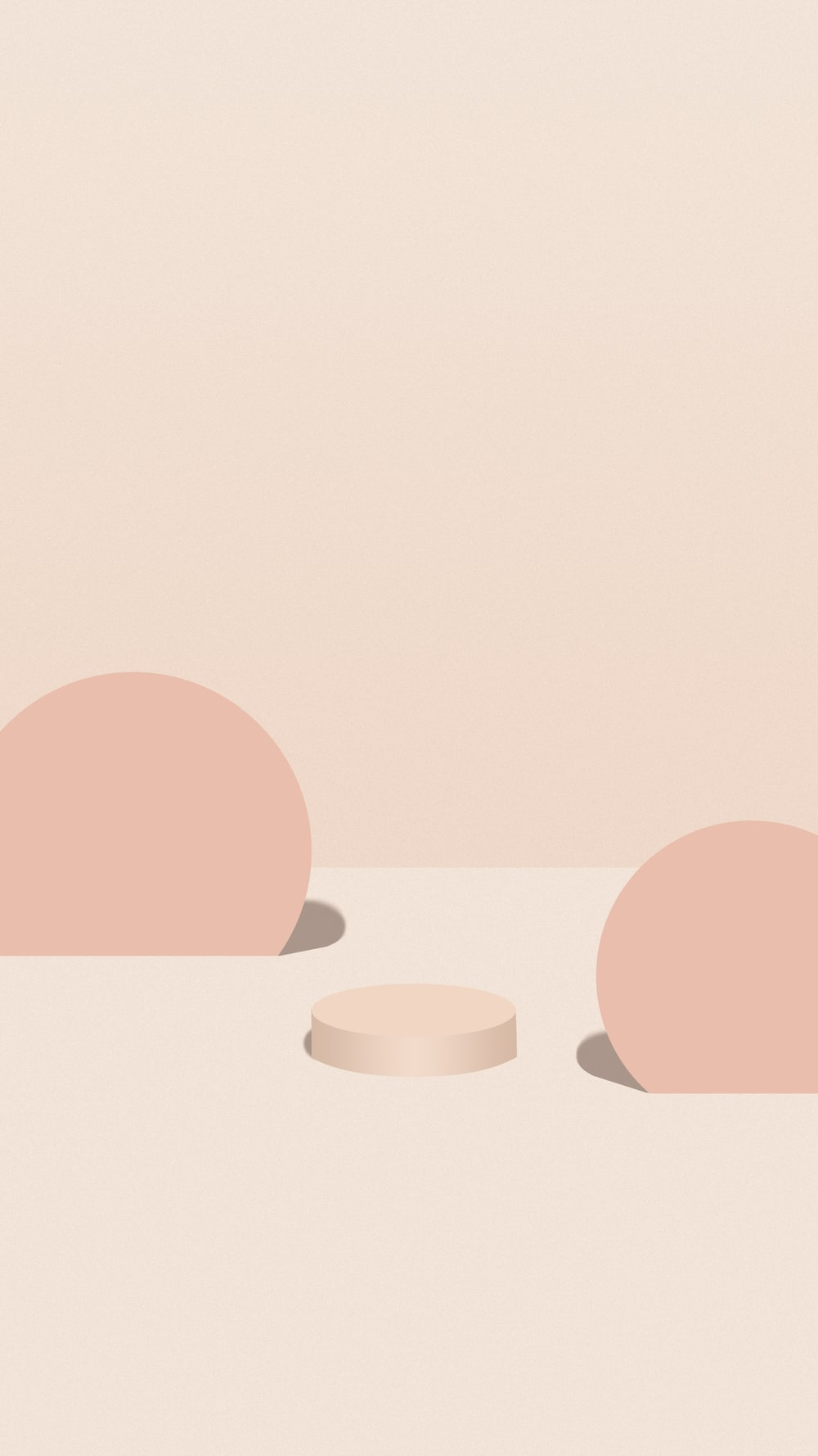 pink and white round illustration